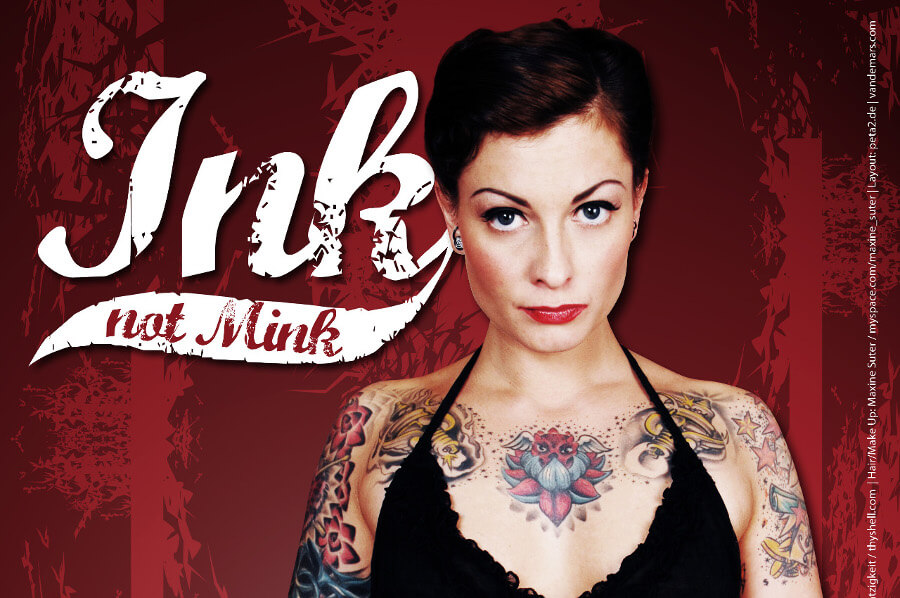 Kampagne Peta2 - Ink not mink